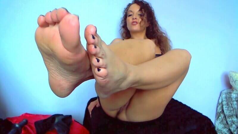 Vidéo fetish avec mes pieds